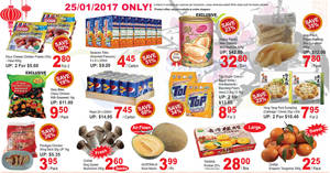 Sheng Siong one-day deals: Happy Family New Zealand Wild Abalone, Pepsi, Seasons Tetra & more on 25 Jan 2017