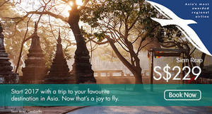 Silkair two-to-go promo fares fr $162 all-in return for travel from Jan – Apr '17. Book from 16 Jan – 28 Feb 2017