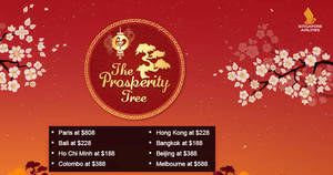 Play SIA's 'The Prosperity Tree' game to win special fares, SIA tote bags & more from 16 – 31 Jan 2017