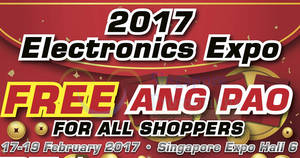 2017 Electronics Expo at Singapore Expo from 17 – 19 Feb 2017