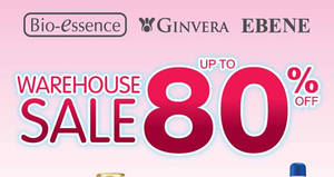 Bio-Essence, Ginvera & Ebene warehouse sale offers up to 80% off discounts from 2 – 6 Mar 2017