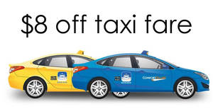 Save $8 off Comfort Delgro midnight taxi rides with this promo code valid from 24 – 26 Feb 2017