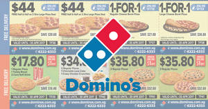 Domino's Pizza new 1-for-1 & more coupon deals valid from 23 Feb – 30 Apr 2017