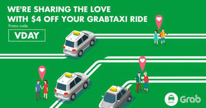 New $4 off GrabTaxi rides promo code valid from 13 – 19 Feb 2017