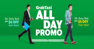 Save $5 to $6 off GrabTaxi rides with these promo codes valid from 20 – 24 Feb 2017