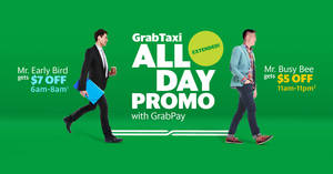 Extended! Save $5 to $7 off GrabTaxi rides with these promo codes valid from 27 Feb – 3 Mar 2017