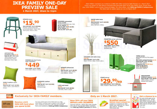 Ikea Sale Preview For Family Members Free Membership On