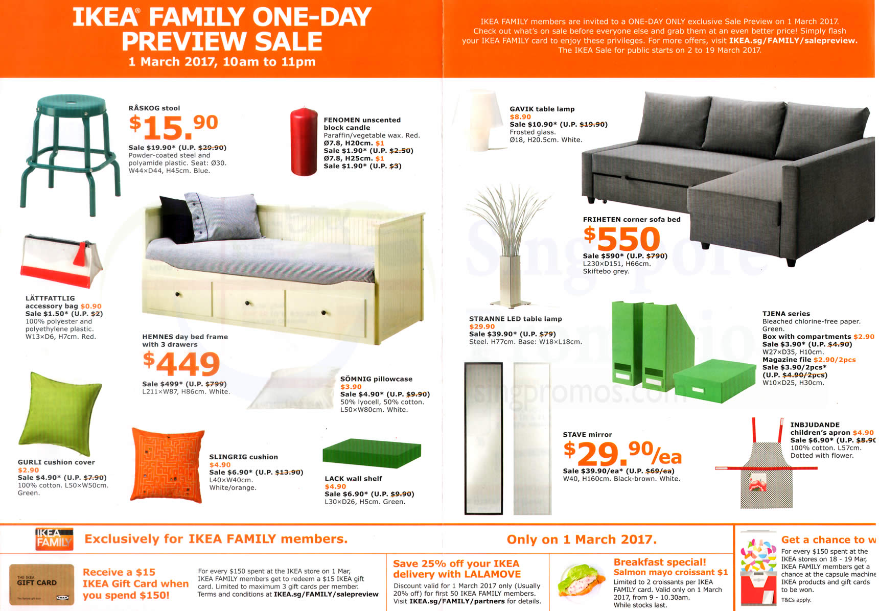 ikea sale preview for family members free membership on 1 mar 2017. Black Bedroom Furniture Sets. Home Design Ideas