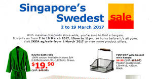 IKEA's sale will be happening from 2 – 19 Mar 2017