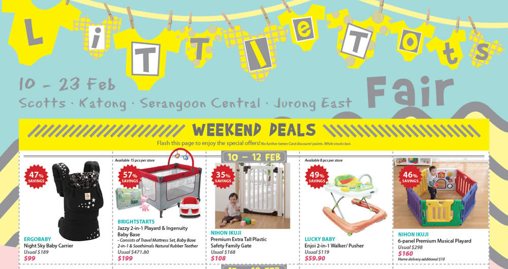Toys For Tots Letter Head : Isetan little tots fair at four outlets from feb