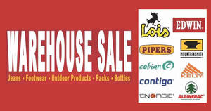 Lachmann Marketing offers up to 80% off Edwin, Pipers, Contigo & more at their warehouse sale from 3 – 5 Mar 2017