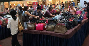 Luxury City luxury branded handbags sale at Hougang Mall from 24 Feb – 2 Mar 2017