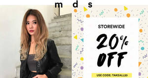 MDS Collections offers 20% off storewide from 20 – 23 Feb 2017