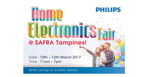 Philips Home Electronics Fair at SAFRA Tampines from 10 – 12 Mar 2017
