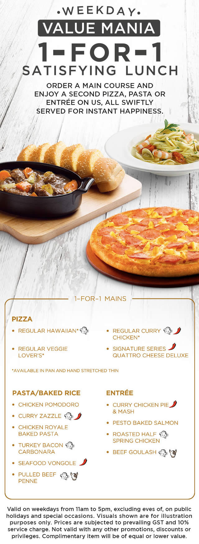 Pizza hut two for one / Actual Store Deals