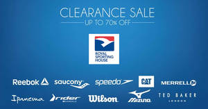 Royal Sporting House up to 70% off clearance sale at new Wisma Gulab outlet store from 23 Feb 2017