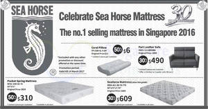 Sea Horse offers 30% to 50% off selected furniture, mattresses, beds & more from 26 Feb – 14 Mar 2017
