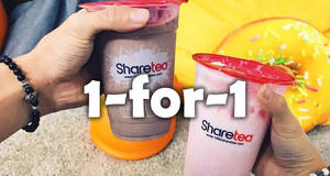 Sharetea offers 1-for-1 on Valentine's special flavours – Cocoa Lover & Strawberry Sweetheart – on 25 Feb 2017