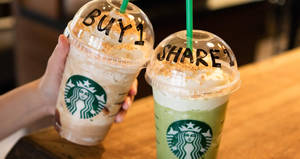 Starbucks: 1-for-1 treat on ANY-size handcrafted beverages ALL-DAY this week! From 17 – 23 Jul 2017