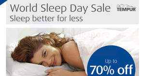 Tempur storewide sale at Tempur Sleep Boutique from 3 – 5 Mar 2017