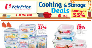 Fairprice: Save 25% to 30% on selected Lock & Lock containers & glass containers from 2 – 15 Mar 2017
