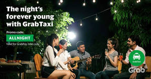 Save $8 off midnight GrabTaxi rides (11pm to 6am) for all users with this promo code valid from 1 – 5 Mar 2017