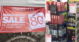 Home-Fix warehouse sale offers discounts of up to 80% OFF from 23 – 26 Mar 2017