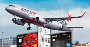 Jetstar two-to-go promo fares with UOB cards for travel up to Dec '17. Book from 21 – 24 Mar 2017