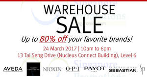 Luxasia's warehouse sale offers up to 80% off discounts on 24 Mar 2017