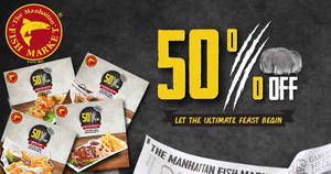 Manhattan FISH MARKET releases NEW 50% off & $10 coupon deals valid from 13 Mar – 9 Apr 2017