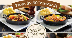 Miam Miam $9.90++ Great Value Weekday Set Meals at Waterway Point & Tampines One from 24 Mar 2017