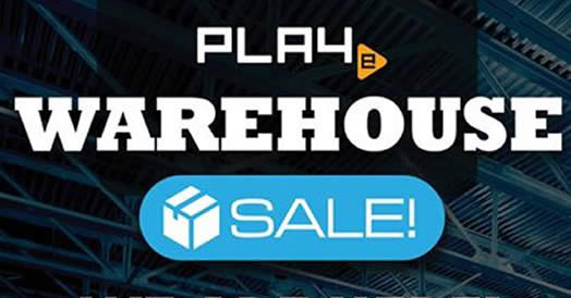 PLAYe warehouse sale feat 20 Mar 2017