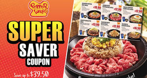 Save up to $39.50 in total at Pepper Lunch restaurants with these e-coupons valid from 28 Mar – 2 May 2017