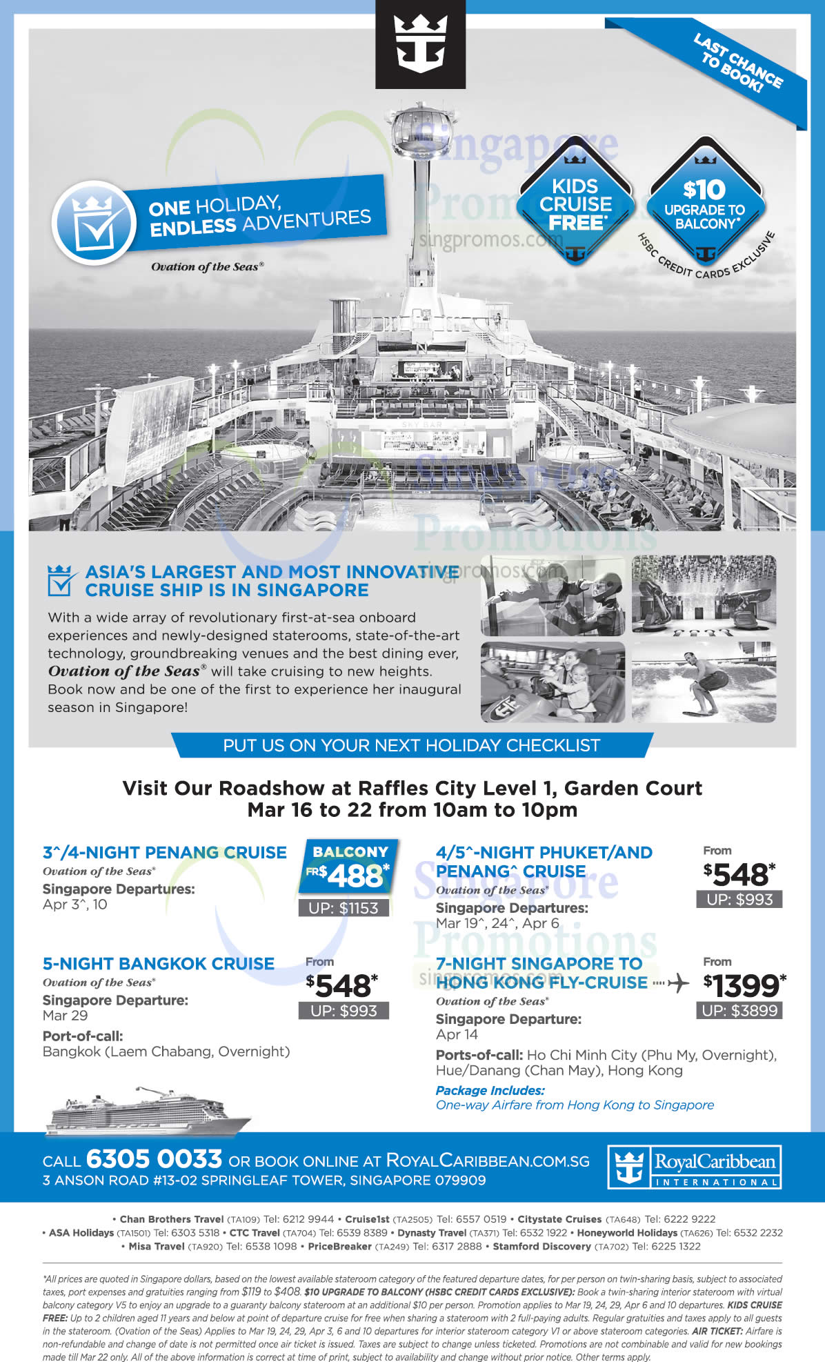 Royal Caribbean Roadshow At Raffles City Cruise From 488 From 16  22 Mar