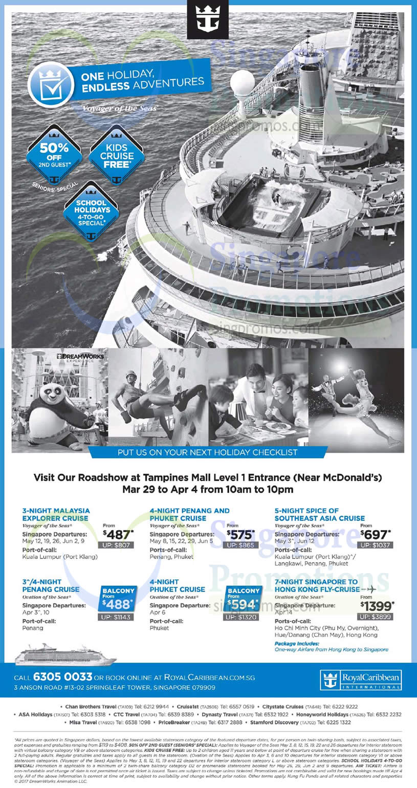 Royal Caribbean Roadshow At Tampines Mall Cruise From 487 From 29 Mar  4