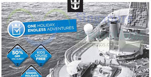 Royal Caribbean roadshow at Tampines Mall (Cruise from $487*) from 29 Mar – 4 Apr 2017