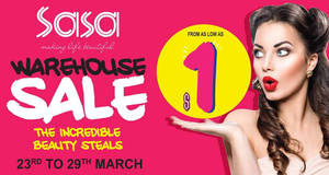 Sasa's warehouse sale features prices from $1 onwards at Big Box from 23 – 29 Mar 2017