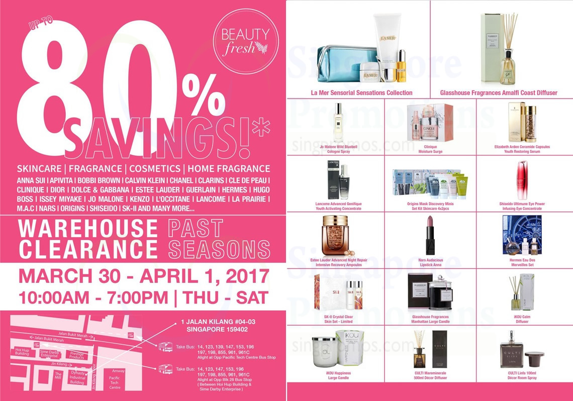 Simex Asia Pacific Warehouse Sale Offers Up To 80 Off Skincare Fragrances Amp Cosmetics From 30