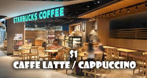 $1 Starbucks Caffe Latte/Cappuccino with DBS/POSB Apple Pay payments on 30 Mar 2017