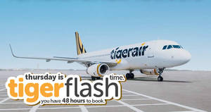 Tigerair's 48hr FLASH sale features fares fr $38 all-in to over 40 destinations! Book from 20 – 22 Jul 2017, 8am to 8am