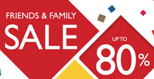 Valiram's Friends & Family Sale offers discounts of up to 80% off from 1 – 2 Apr 2017