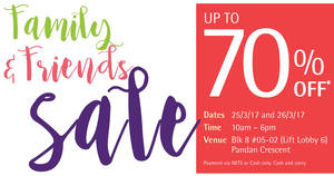 WMF Friends and Family Sale offers up to 70% off discounts from 25 – 26 Mar 2017
