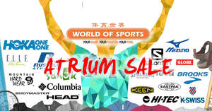 World of Sports up to 70% off atrium sale at Velocity@Novena Square from 20 – 26 Mar 2017