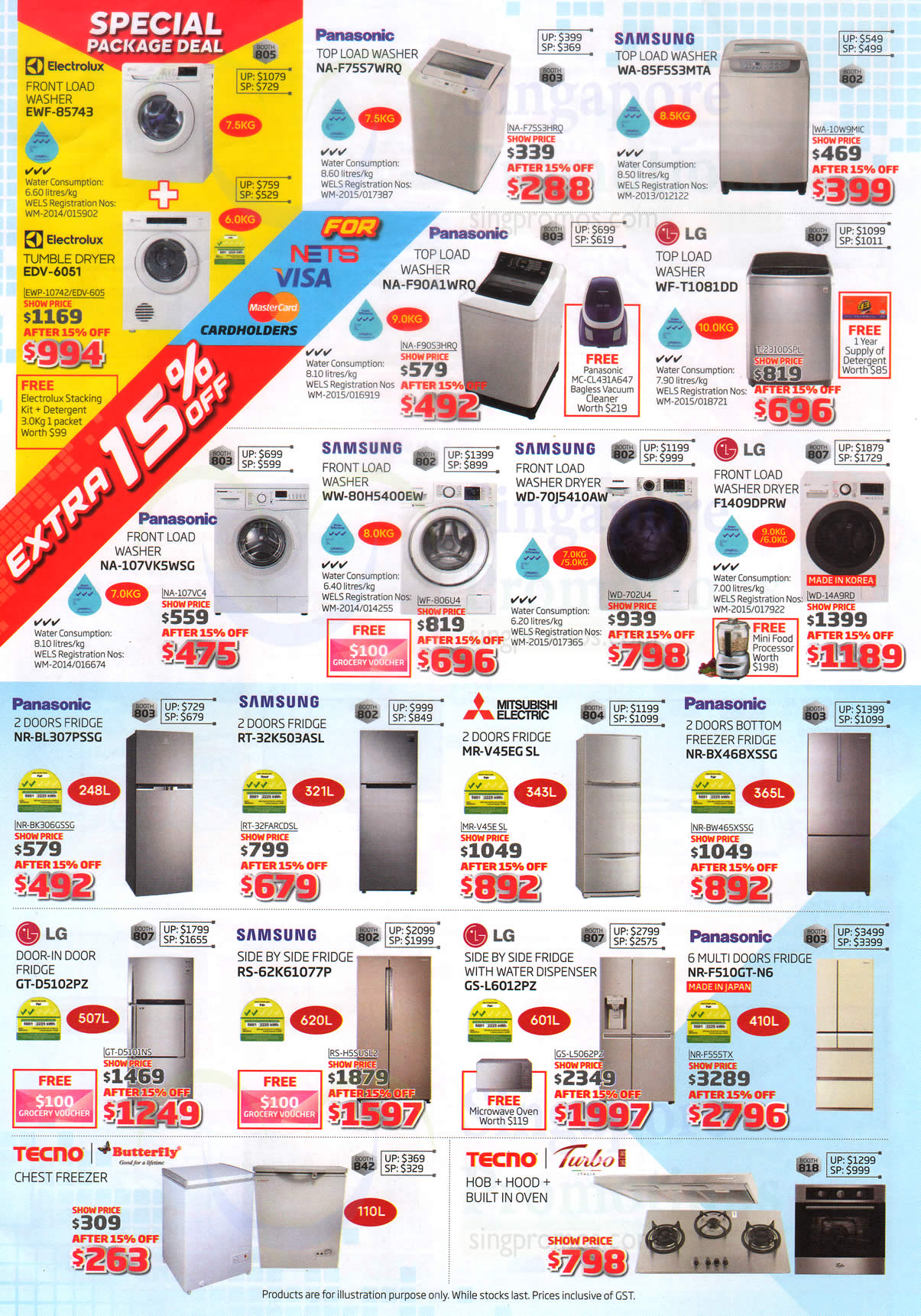 Digital Expo Fridges, Washers 15 Apr 2017
