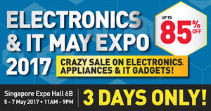 Electronics & IT May Expo 2017 at Singapore Expo Hall 6B from 5 – 7 May 2017