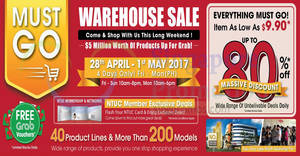 Europace warehouse sale returns with discounts of up to 80% off from 28 Apr – 1 May 2017