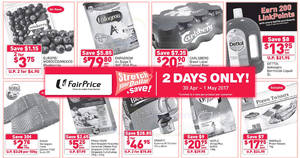 Fairprice: Stretch your dollar and save! Deals valid for 2 days only from 30 Apr – 1 May 2017