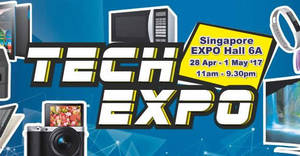 Harvey Norman Tech Expo 2017 at Singapore Expo from 28 Apr – 1 May 2017