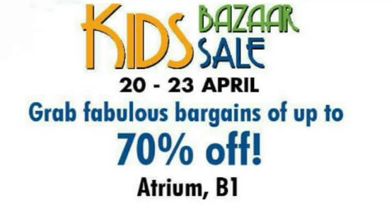 Kids Bazaar Sale feat 18 Apr 2017