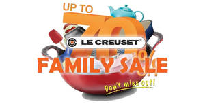 Le Creuset up to 70% OFF Family Sale! From 27 – 29 Oct 2017
